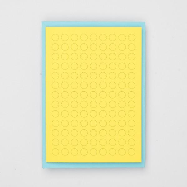 "Jot Paper Karte ""Poke a Dot"" gelb & türkis"