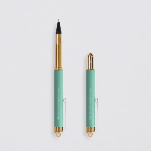 """Midori"" Traveler's Notebook ""Factory Green"" Tintenroller"