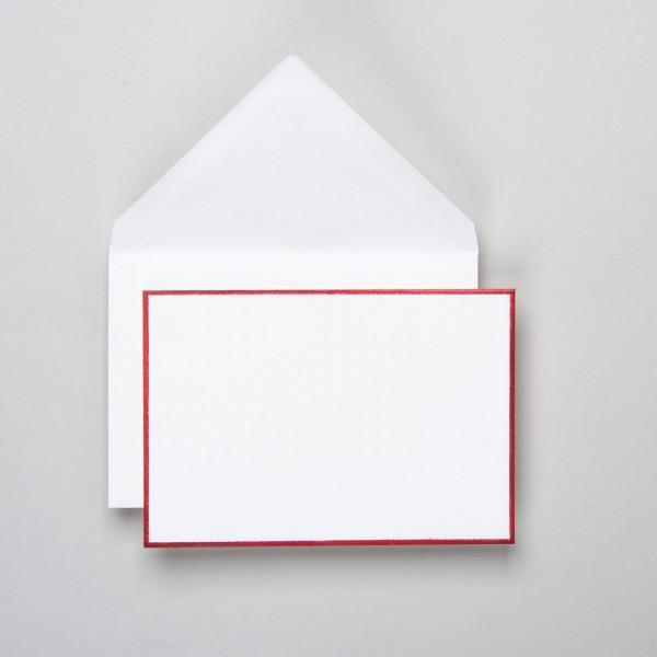Umschlag handgerändert in rot klein