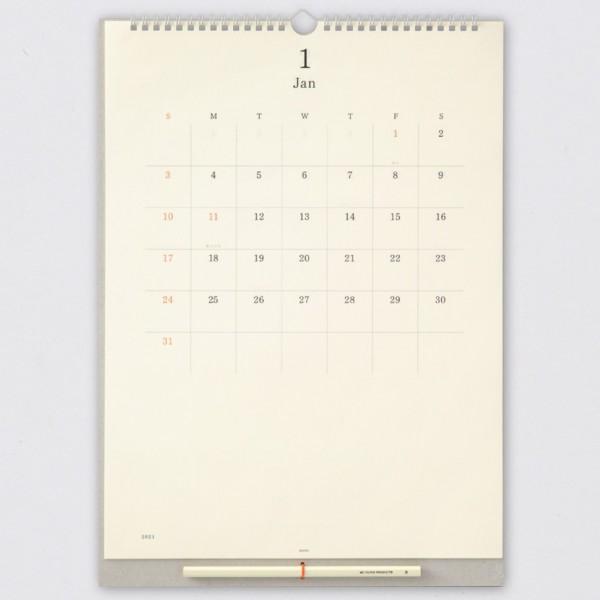 Midori 2021 Wandkalender