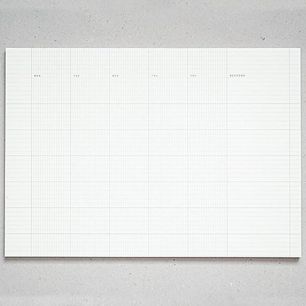 Paperways Deskpad - Monatsüberblick gerastert