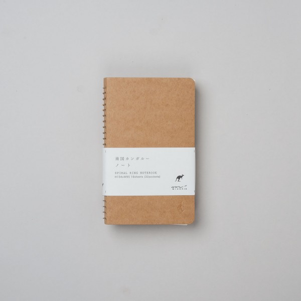 Midori Spiralringbuch Kangaroo A6 mit Taschen