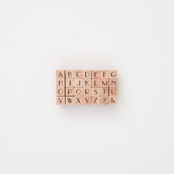 "Stempel ""Großbuchstaben"" Art Deco"