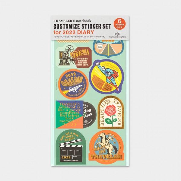 Traveler's Notebook 2022 Customize! sticker set