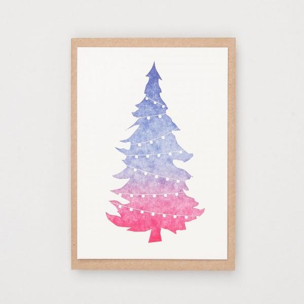 """Grußkarte """"Iris Christmas Tree"""""""