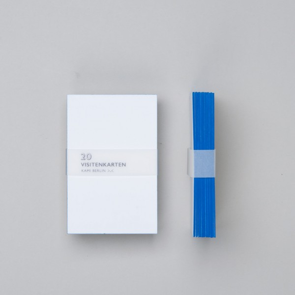 Kami Blank Business Cards With Blue Cut 20 Pcs
