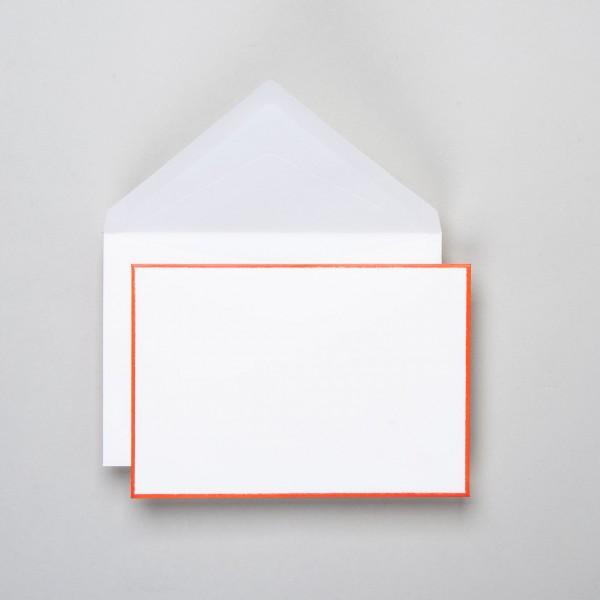 Umschlag handgerändert in orange klein