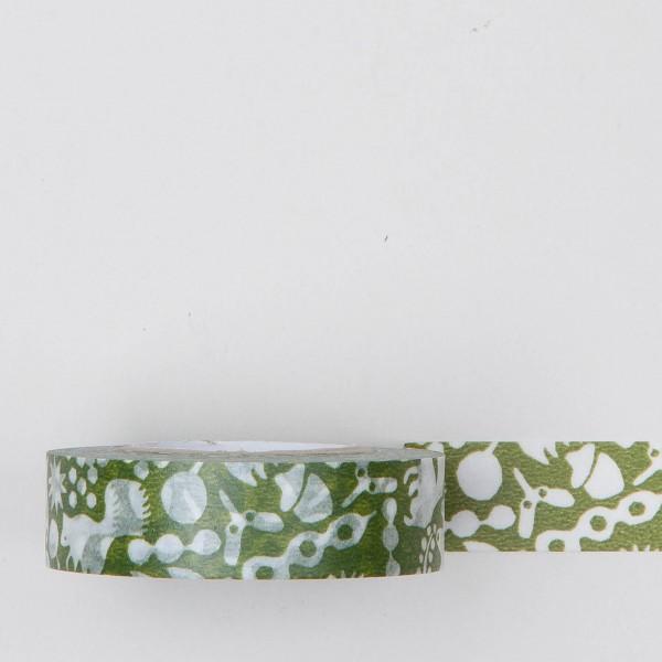 """Masking Tape """"Herbstlaub"""" grün"""