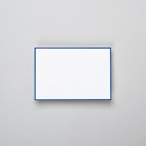 Karte handgerändert in blau klein