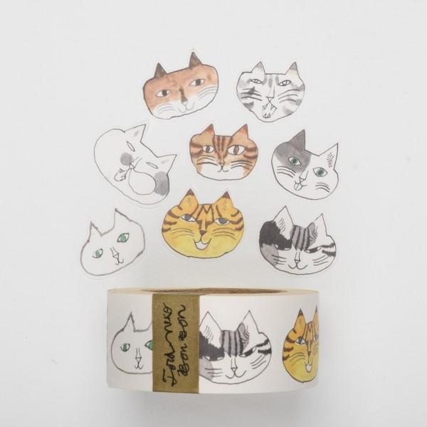 Klebebilder auf Rolle - Katzen (30mm)