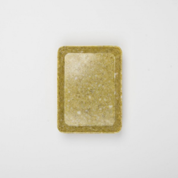 Melamin kleines Tablett senfgelb