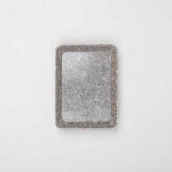 Melamin kleines Tablett grau