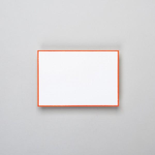 Karte handgerändert in orange groß