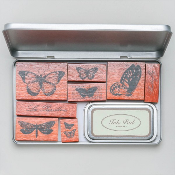 "Cavallini Papers & Co. Rubber Stamps ""Butterfly"" Stempel"