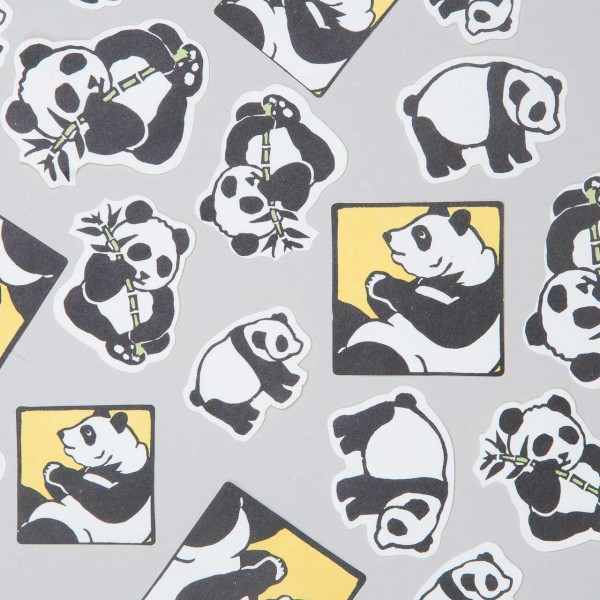 """Japanische Aufkleber """"Panda"""""""