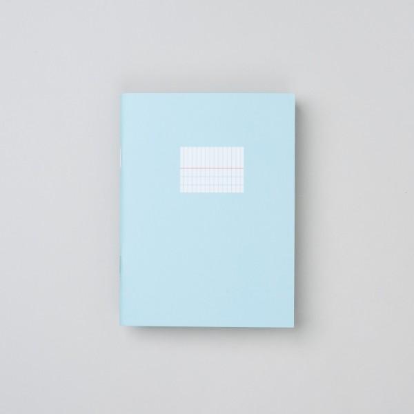 Paperways Notizheft klein in hellblau mit länglichem Karomuster