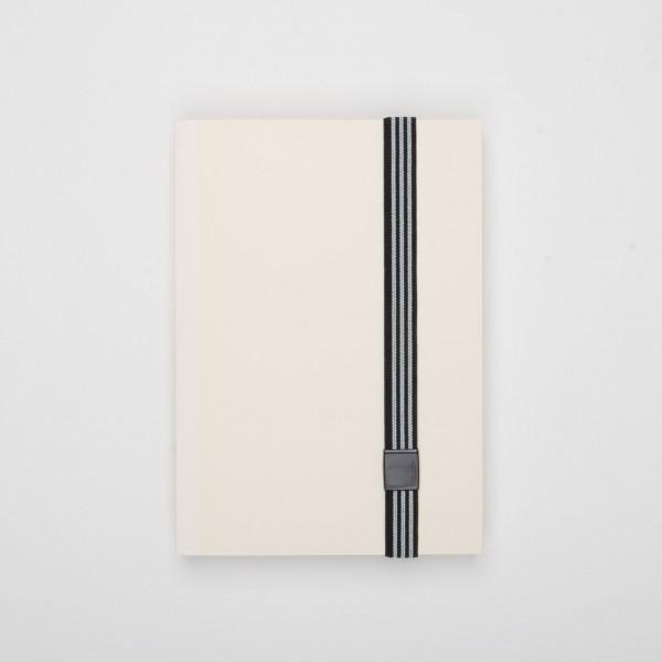 Lion elastisches Verschlussband für Notizbücher schwarz-weiß