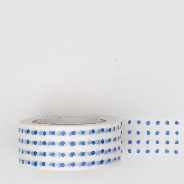 "Masking Tape ""Mitsou Dot"" blau"