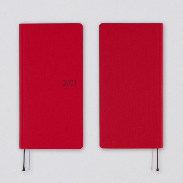 Hobonichi 2021 Kalender Weeks Deep Red (Spring)