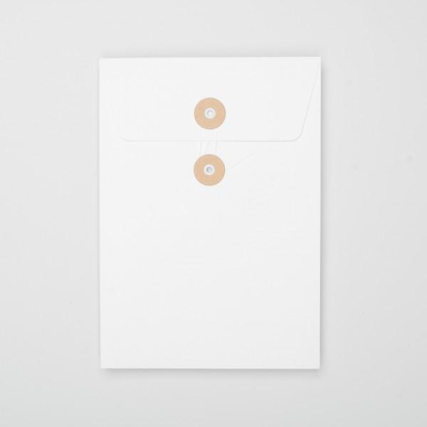 """Umschlag mit Kordel """"weiß"""" C5 (10 Stück)"""