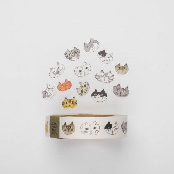 Klebebilder auf Rolle - Katzen (18mm)