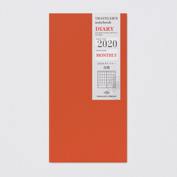 """Midori"" Traveler's Notebook Regular 2020 Monatskalender"
