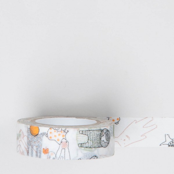 "Masking Tape ""Tiere"" orange"