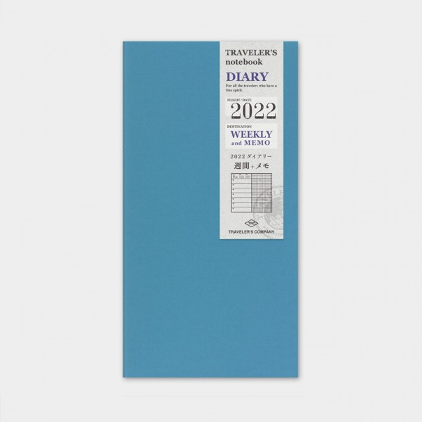 Traveler's Notebook 2022 Regular Wochenkalender + Memo