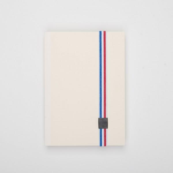 Lion elastisches Verschlussband für Notizbücher blau-weiß-rot gestreift