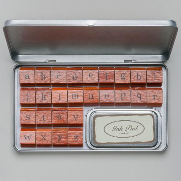 "Cavallini Papers & Co. Rubber Stamps ""Alphabet"" Kleinbuchstaben Stempel"