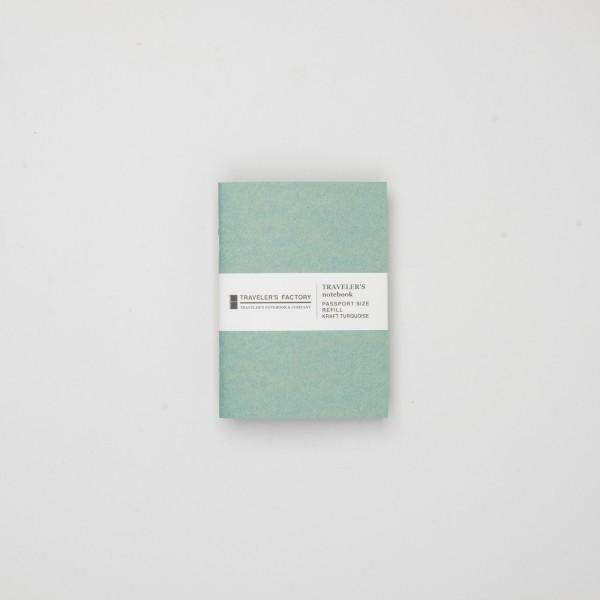 STORE ONLY: Traveler's Factory Einlage Passport Kraftpapier türkis