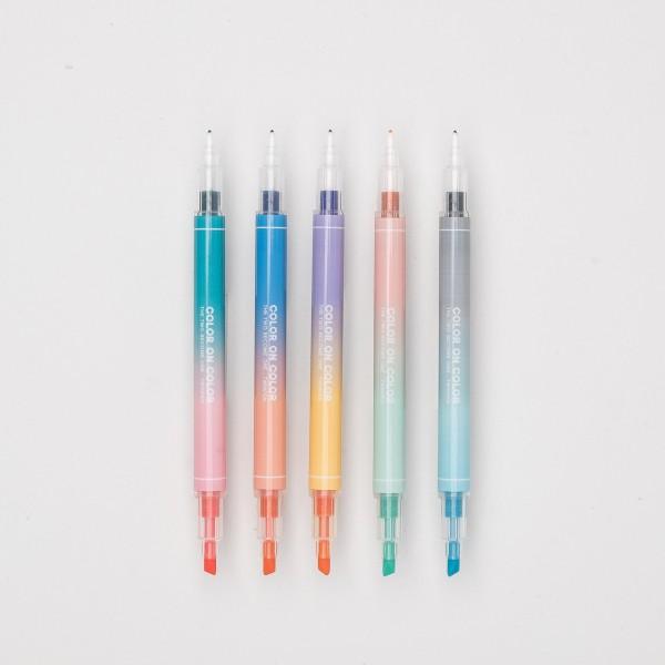 """Twin Plus """"Color on Color"""" Flizstifte Set (5 St.)"""