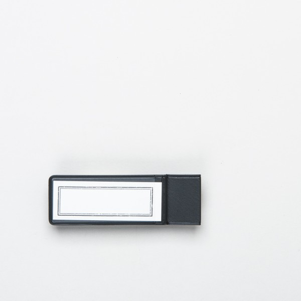 """Traveler's Notebook Etiketten-Stiftschlaufe """"024"""" schwarz"""