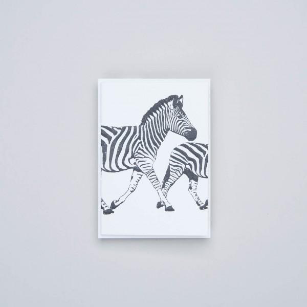 "Archivist Letterpress Klappkarte ""Zebra"""