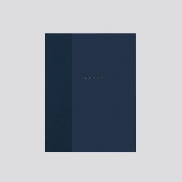 polnisches Notizbuch punktkariert dunkelblau