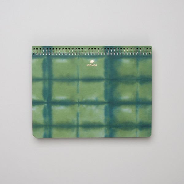 "Postalco ""Square Dyed"" Spiralnotizbuch A5 blaugrün"