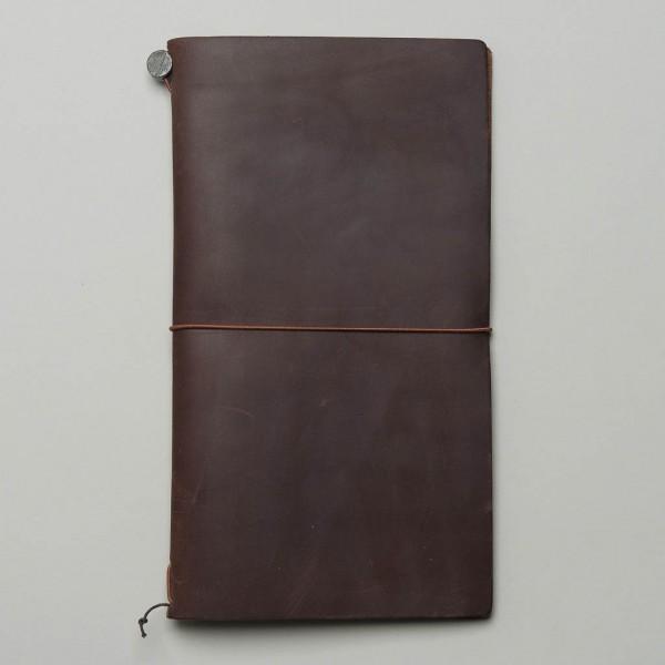 Travelers Notebook aus braunem Leder mit Umverpackung
