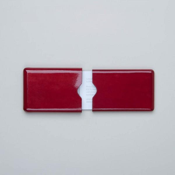 Visitenkartenetui in rot