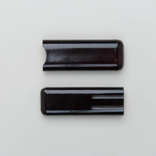 Bindewerk Stifteetui in braun aus Leder
