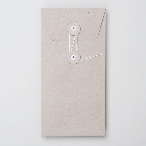 """Umschlag mit Kordel """"natur"""" DL"""
