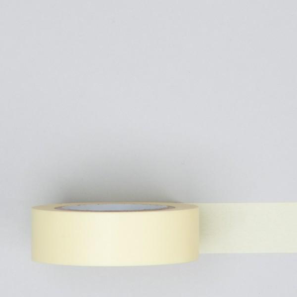 Masking Tape einfarbig pastell gelb