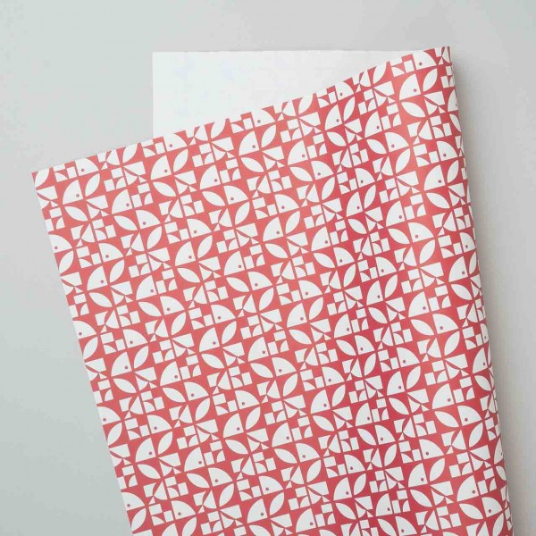 "Esme Winter Geschenkpapier ""Bloom"" in rot"