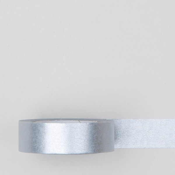 Masking Tape einfarbig silber