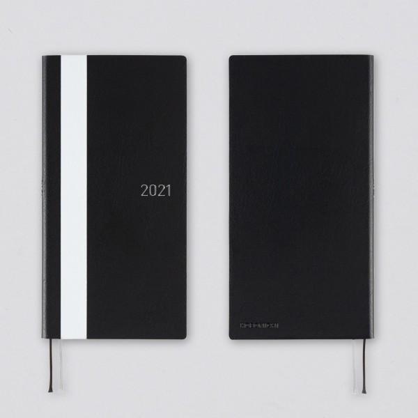 Hobonichi 2021 Kalender Weeks White Line schwarz