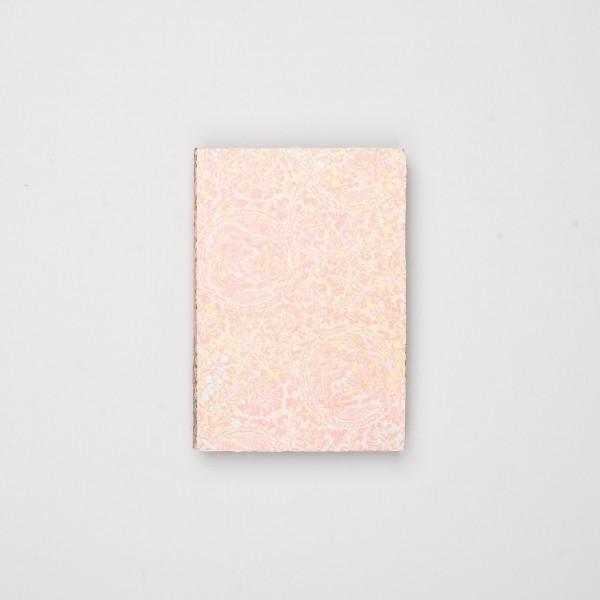 "Skizzenbuch Chiyogami ""Goldtropfen auf Rosa"""