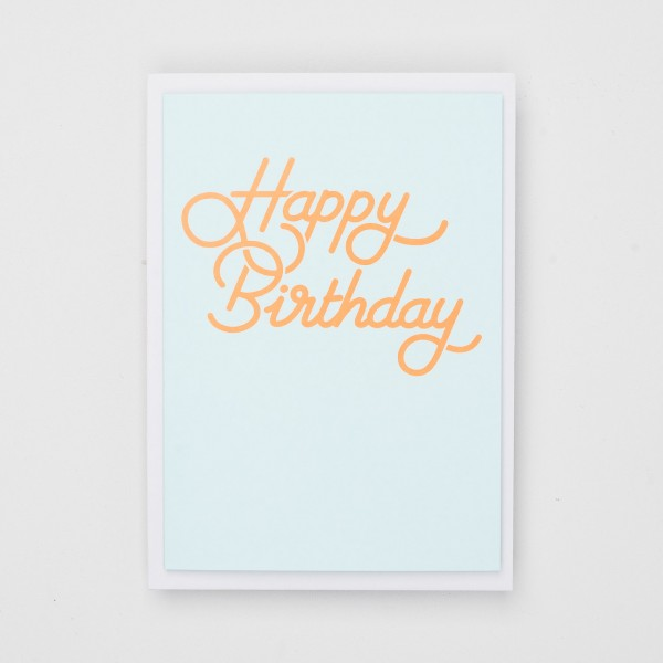 "Jot Paper Klappkarte ""Happy Birthday"" neonorange"