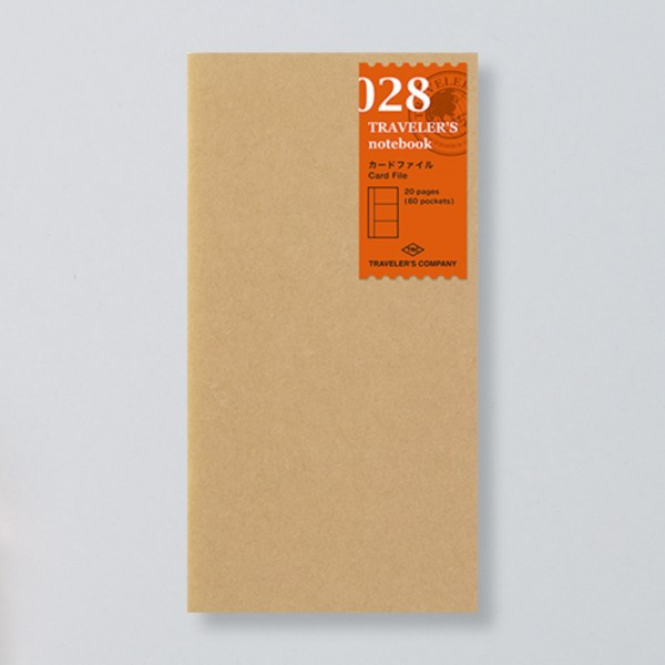 """Midori"" Traveler's Notebook Regular Size Refill ""028"" Card File"