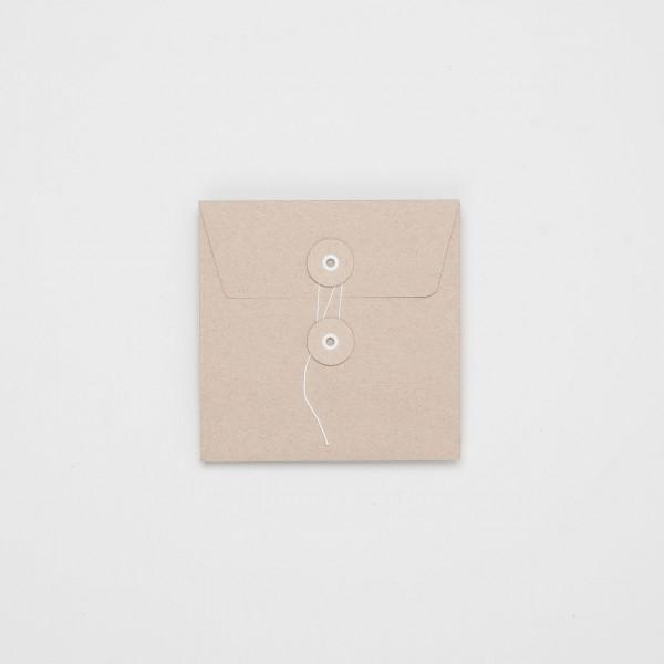 """Umschlag mit Kordel """"natur"""" CD"""