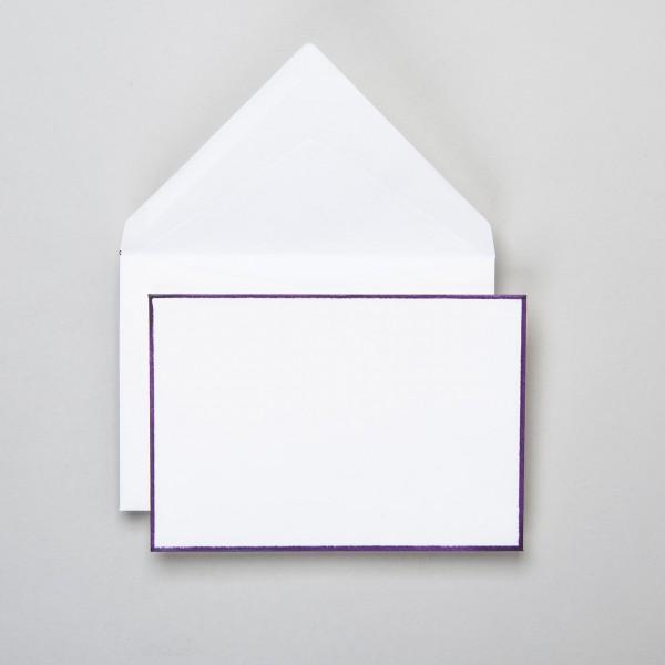 Umschlag handgerändert in lavendel klein