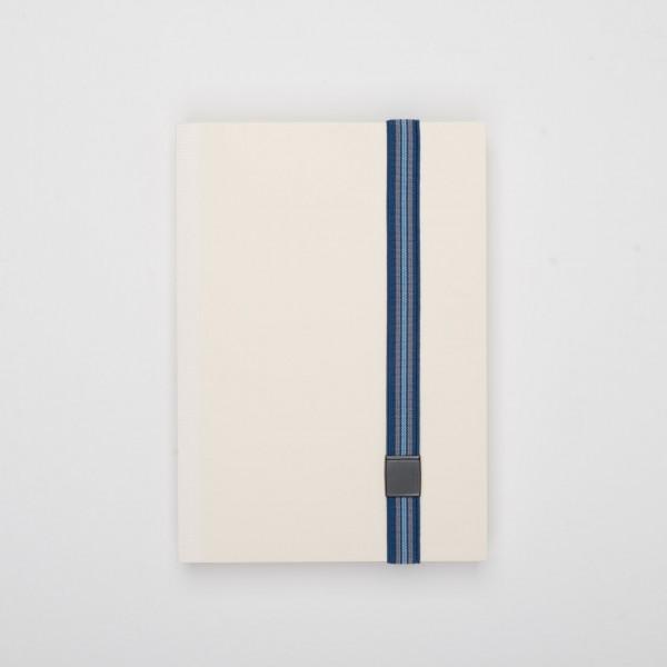 Lion elastisches Verschlussband für Notizbücher blau gestreift